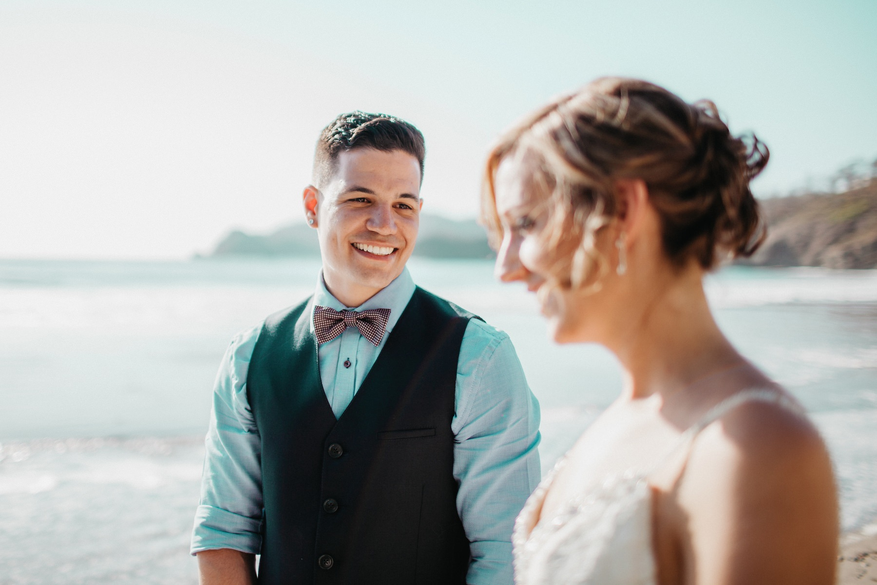 Beach Elopement wedding portraits Costa Rica