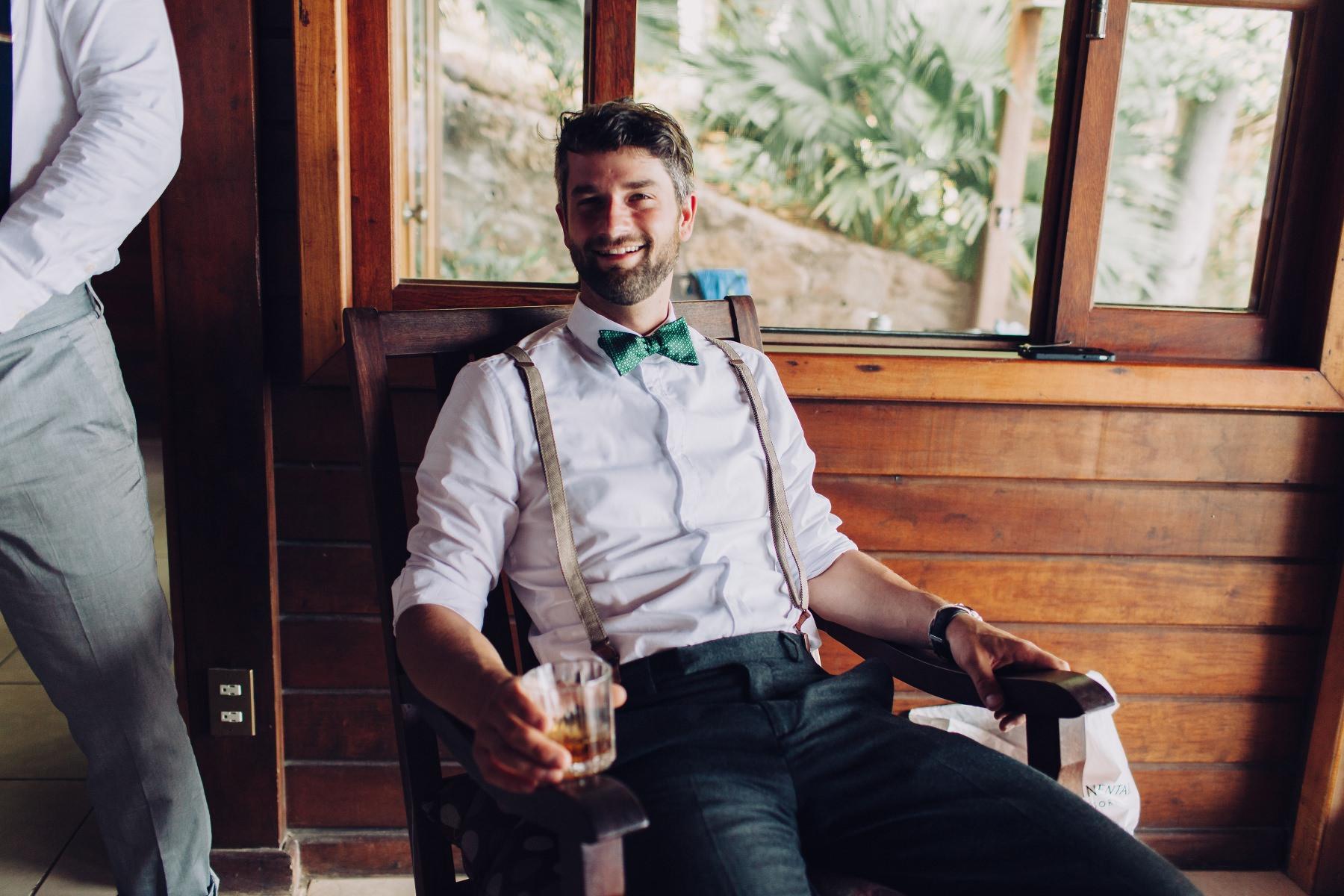 Groomsman waiting for Wedding