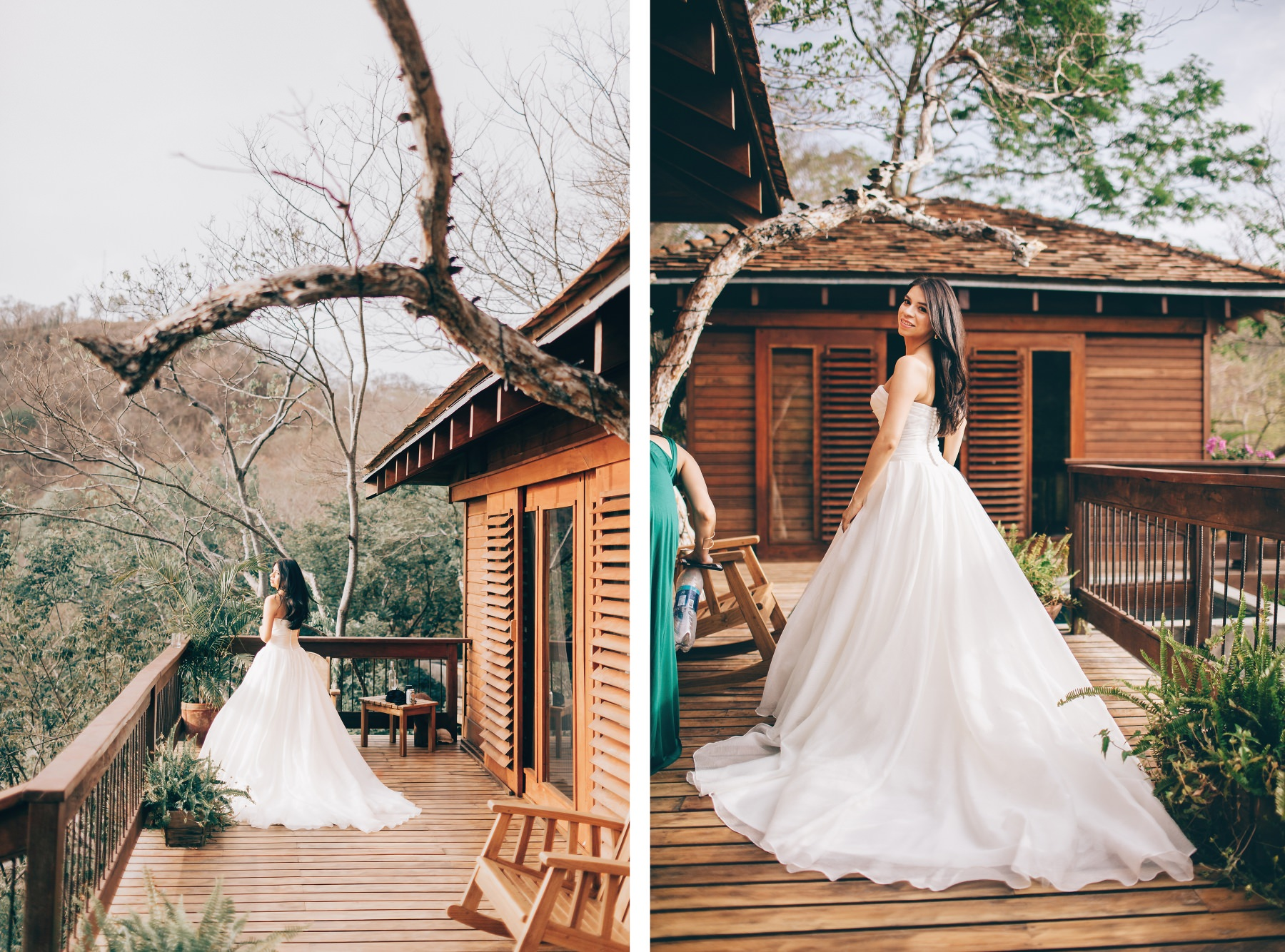 Photography of a bride and her wedding dress- destination wedding Nicaragua