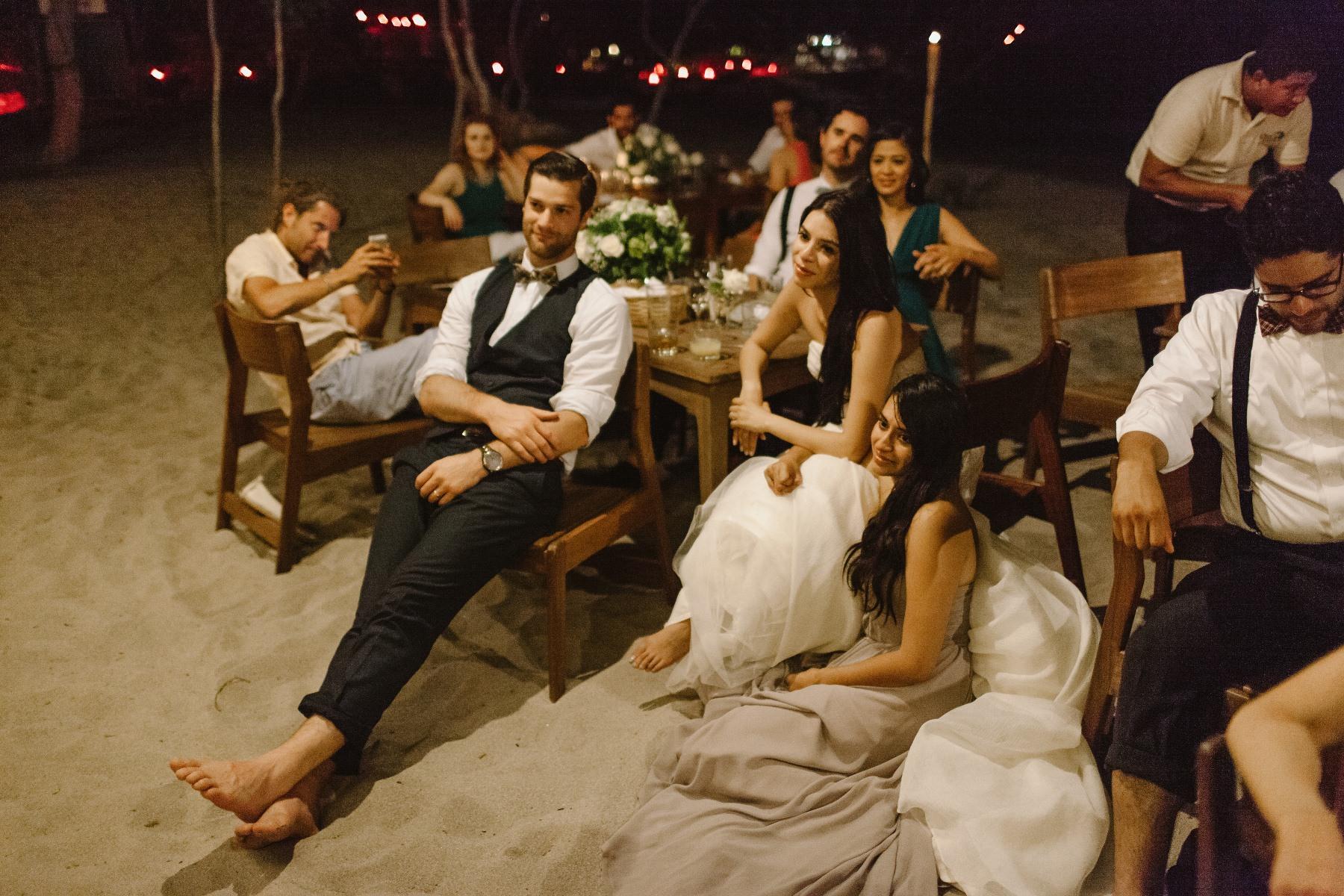 wedding party beach wedding Nicaragua