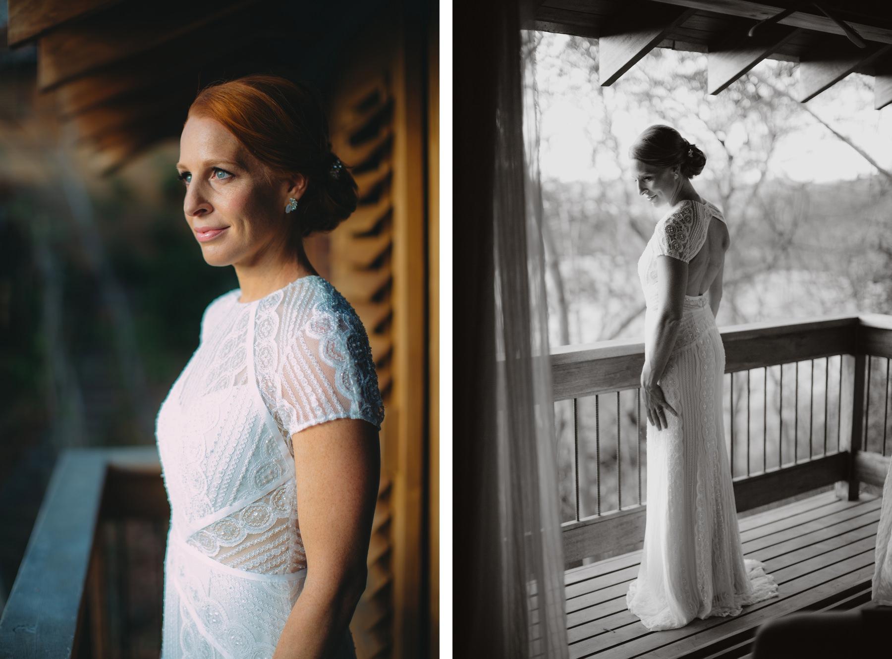 Beautiful bride just before her wedding in Aqua Resort Nicaragua