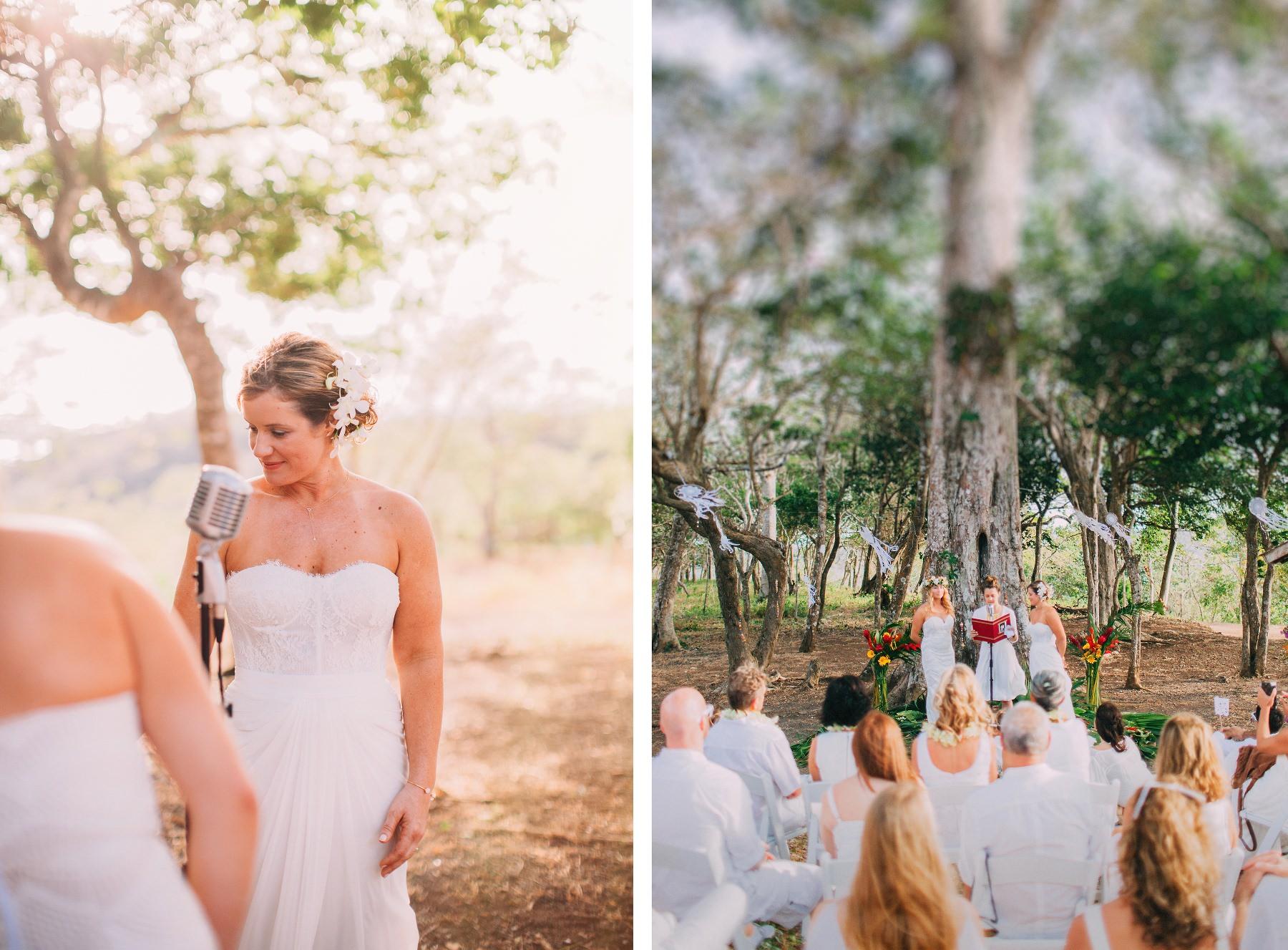 Boho Same-sex wedding under a tree in Costa Rica