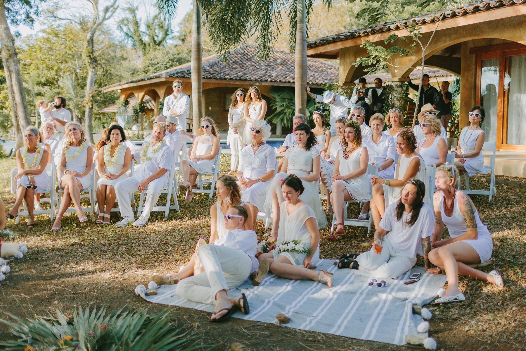 Boho Same-sex wedding scheme ideas Tropical destination wedding Costa Rica