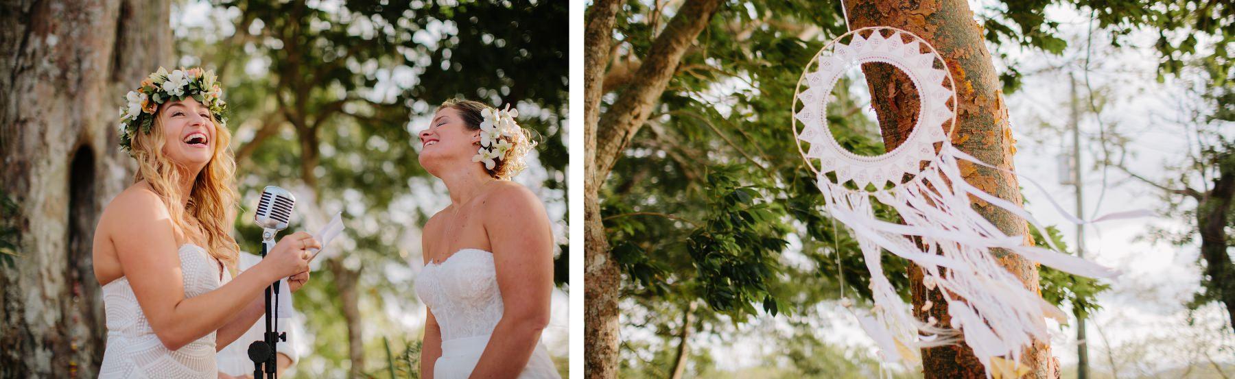 Boho Same-sex wedding photography Tropical destination wedding Costa Rica