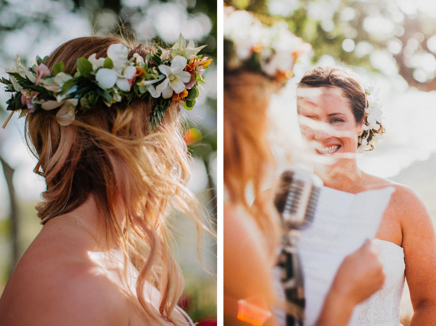 wreath idea boho style bride - destination wedding