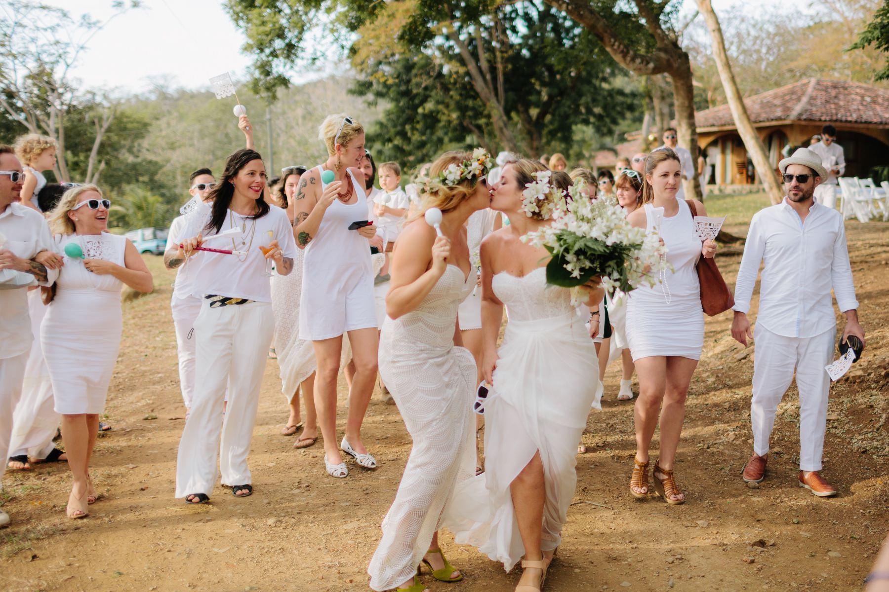 Boho Style Same-sex destination wedding Costa Rica