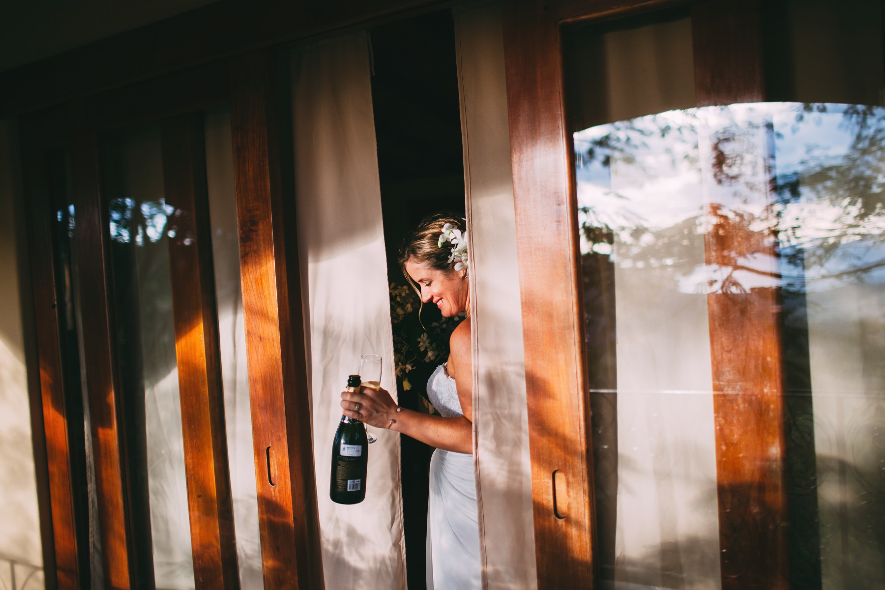 Champagne bottle bride