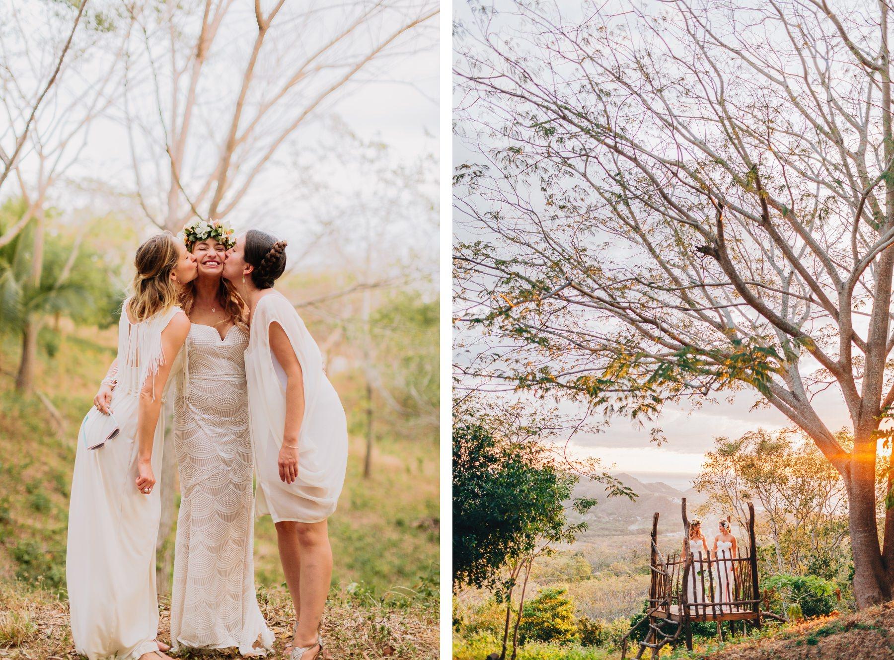 Family bride photos - boho style destination wedding photography Costa Rica