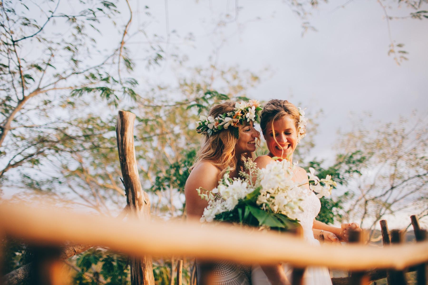 Beautiful brides photography - same-sex destination wedding Costa Rica