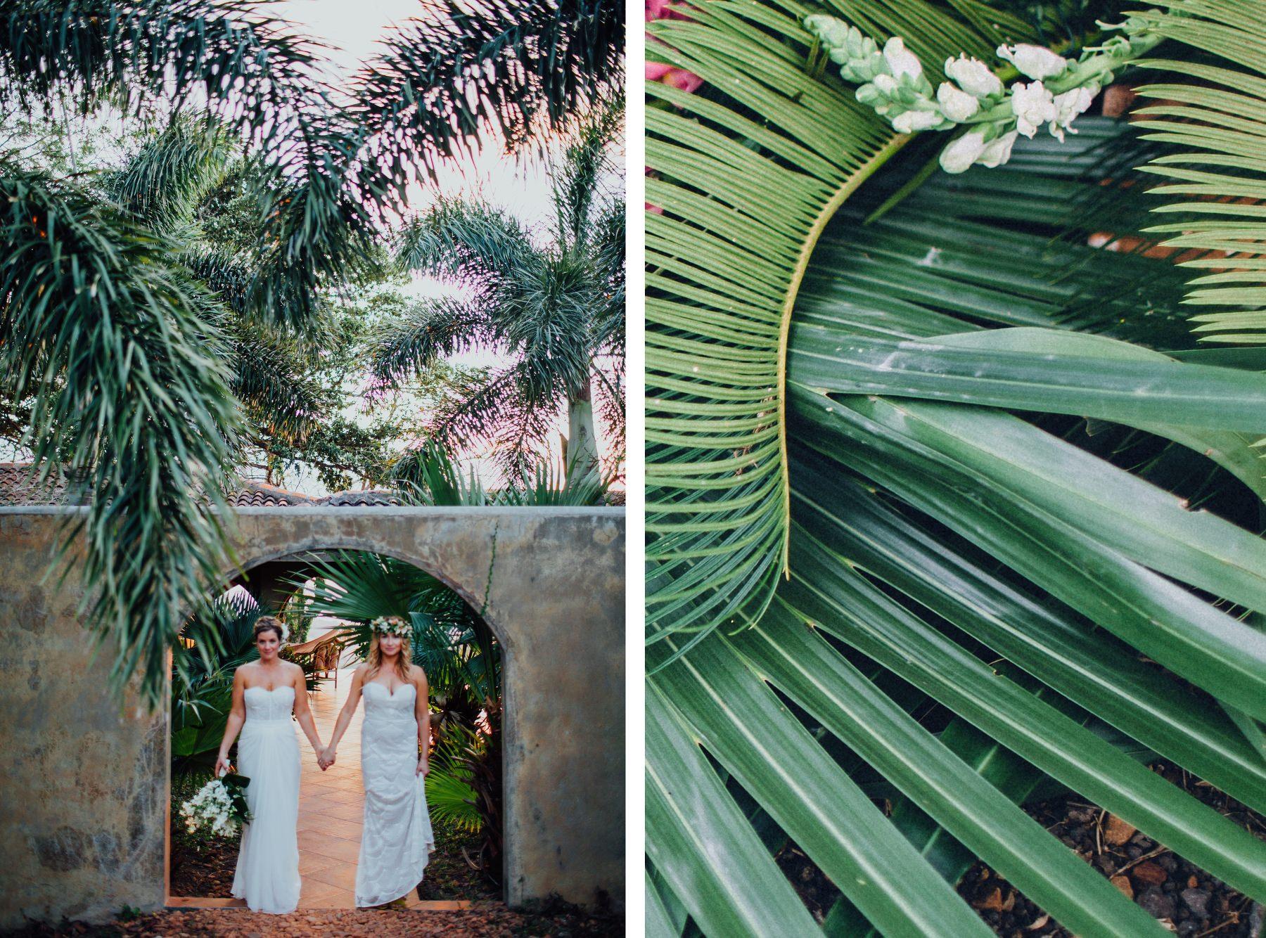 Beautiful brides photography - same-sex destination wedding Tropical  Venue Costa Rica