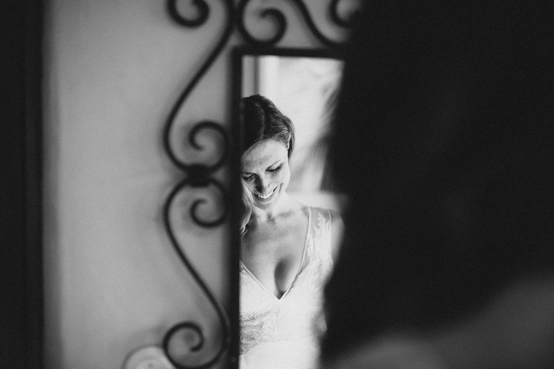 Bride getting ready before Colonial style destination wedding Mexico - Nicaragua