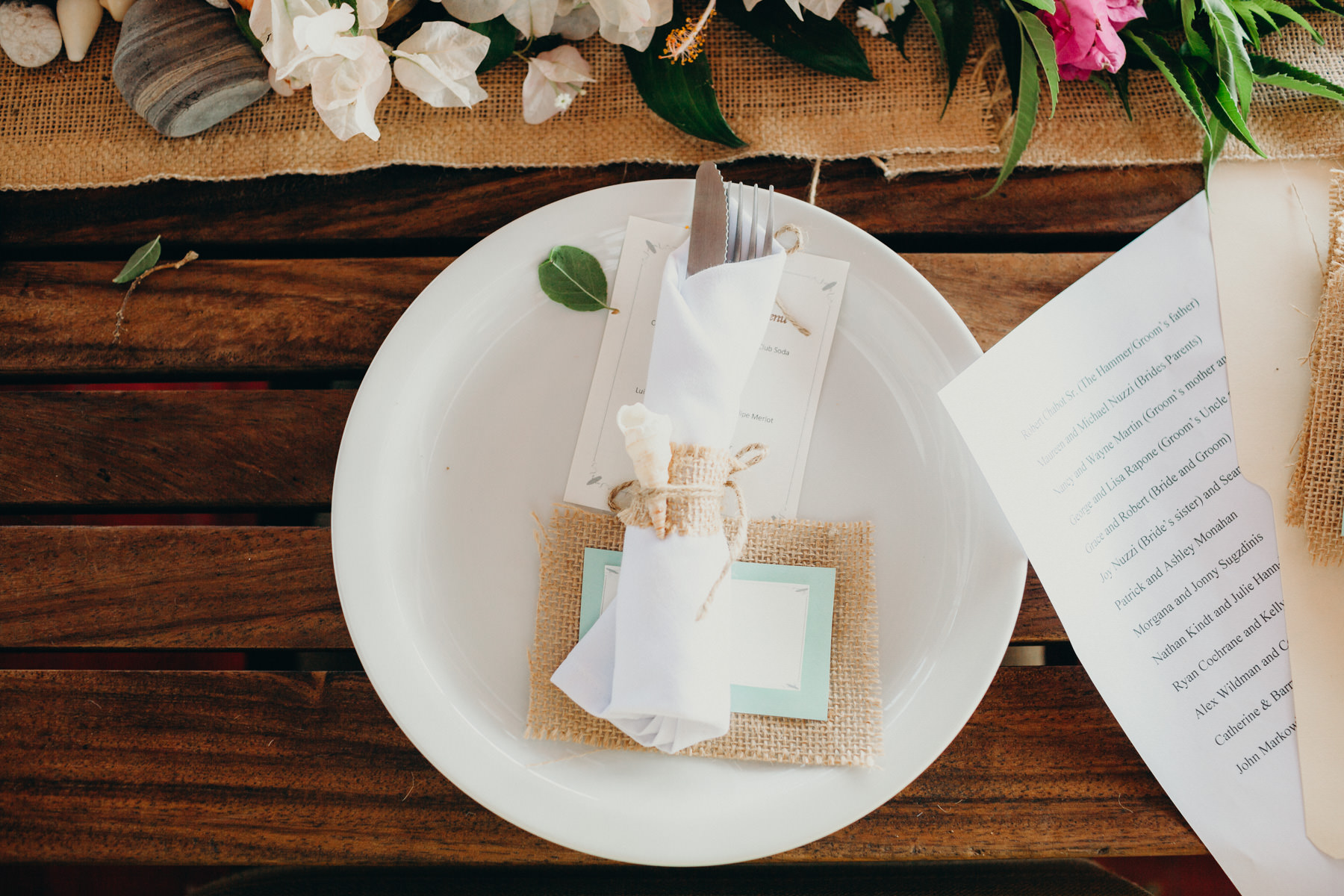 Costa Rica beach wedding decor table ideas