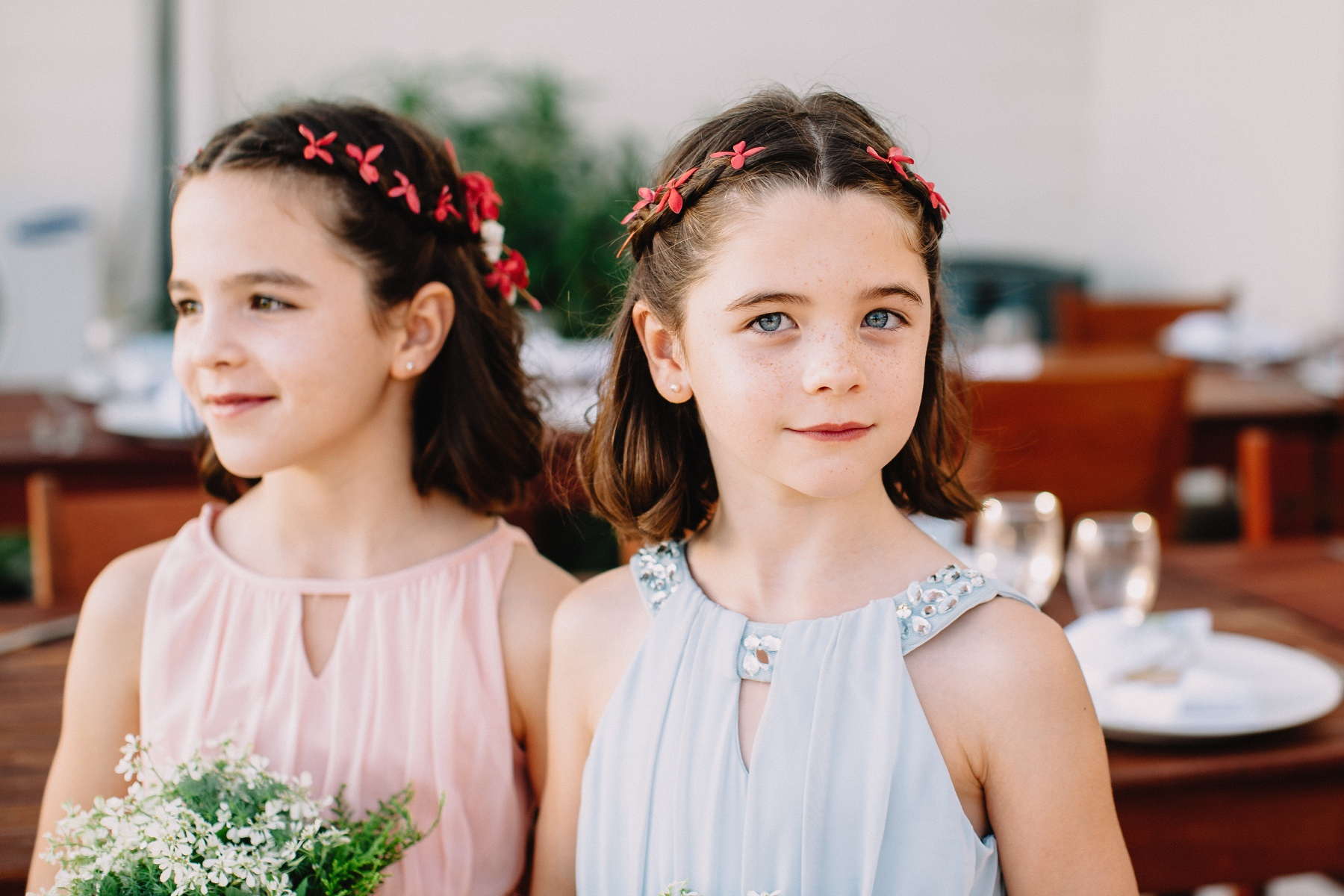 Twin girls wedding style dress ideas