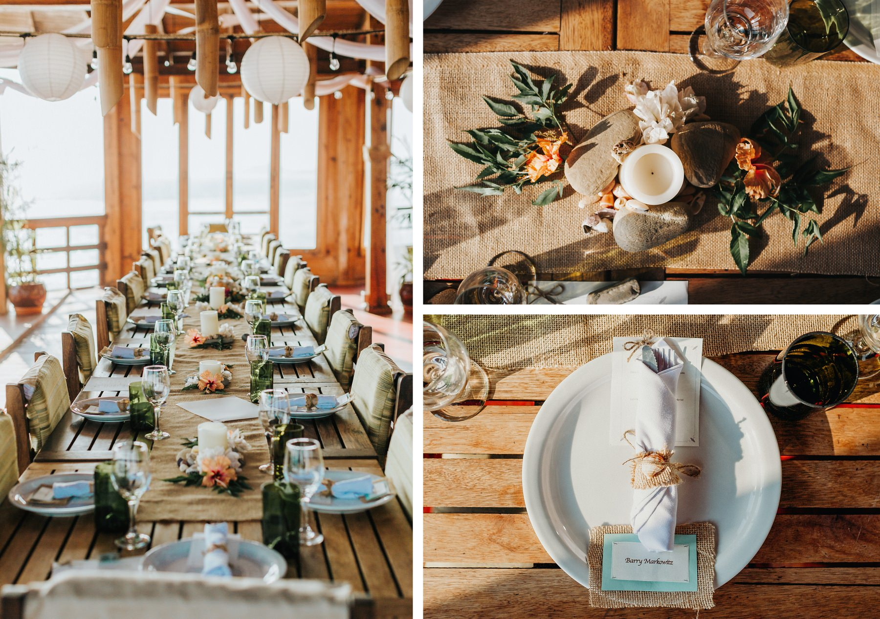 Costa Rica Beach Wedding Decor Ideas