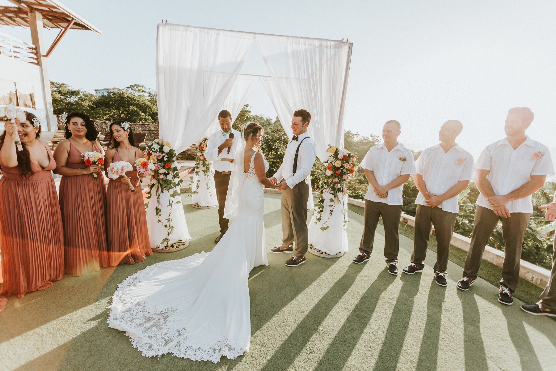 Destination wedding at the beach in Nicaragua Costa Rica