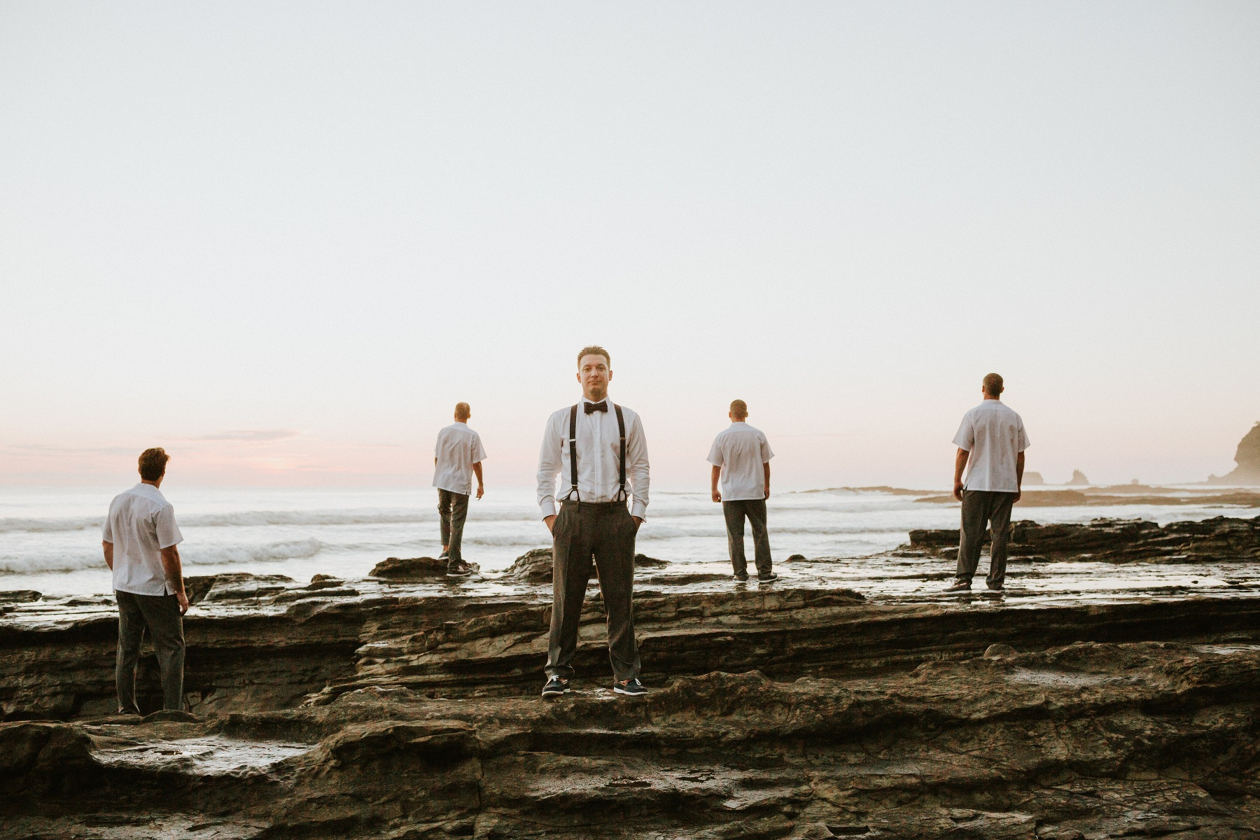 Groomsmen photo ideas for beach wedding Costa Rica