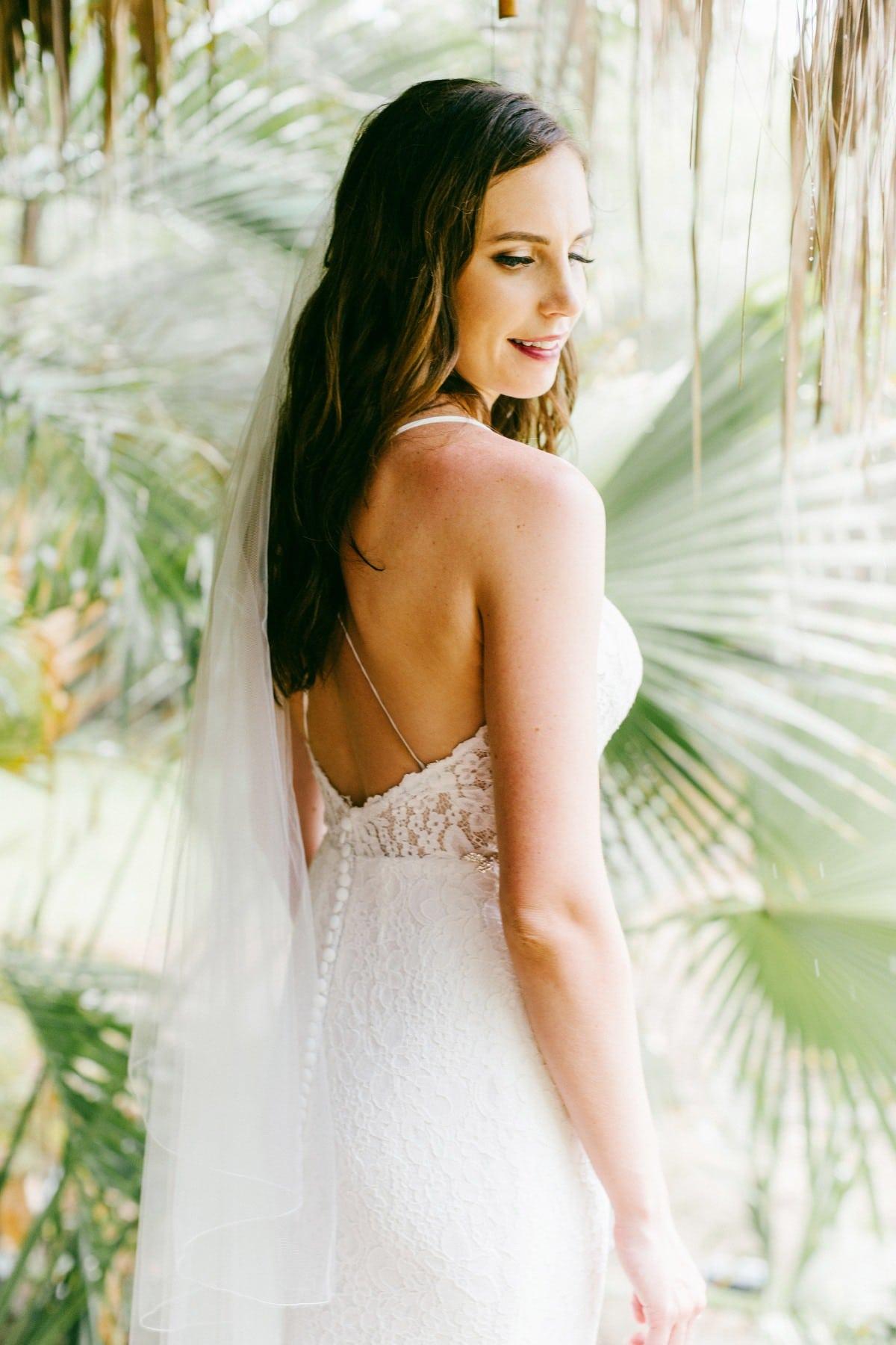 The bride dress Destination wedding Costa Rica