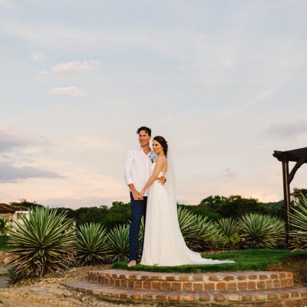 Newlyweds - Rancho Santana destination wedding Nicaragua