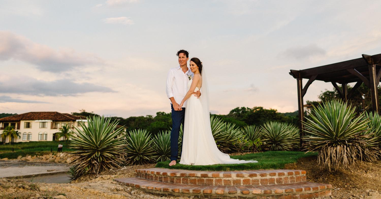 Elegant newlyweds at Rancho Santana Nicaragia wedding