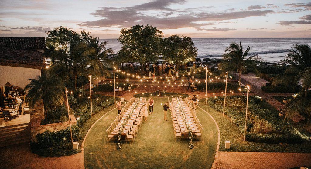 Tropical destination wedding decor Nicaragua Costa Rica